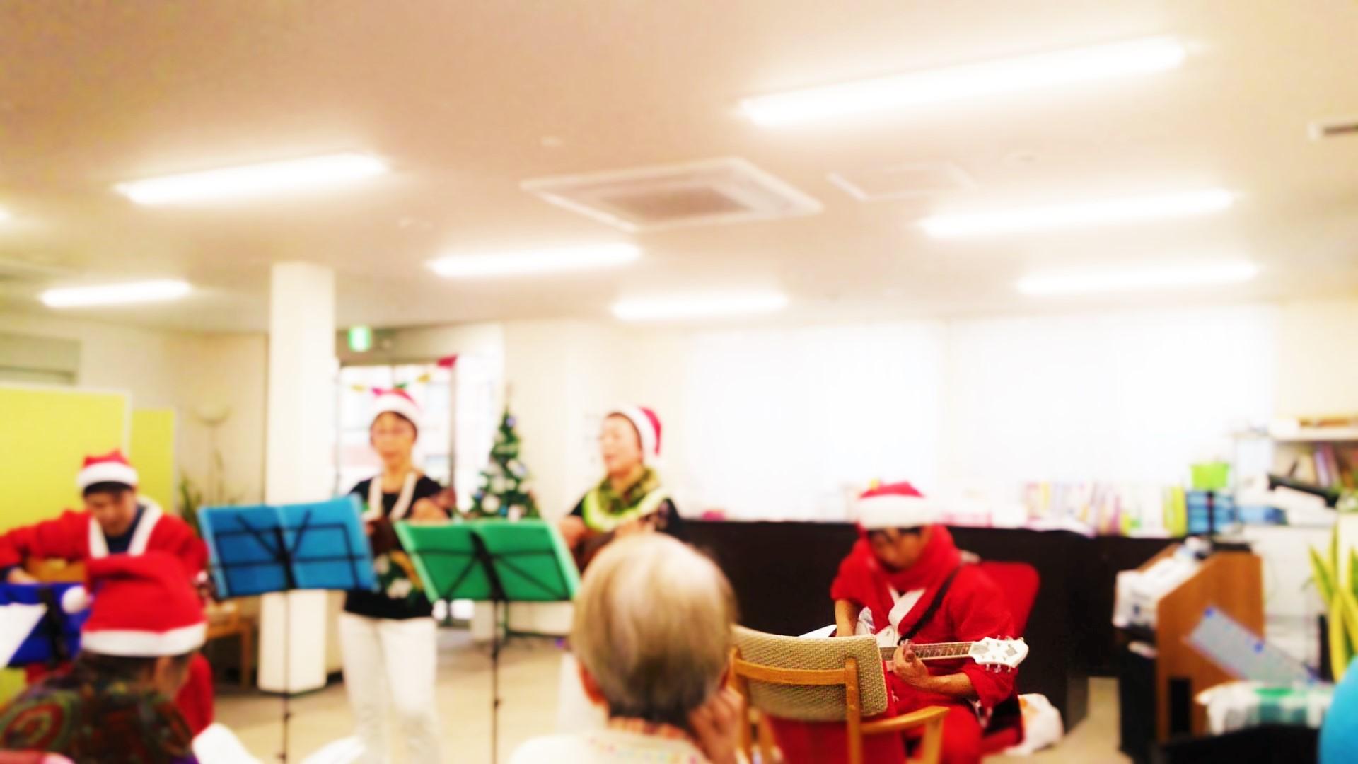 ウクレレ クリスマス演奏